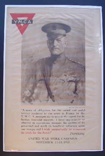 General Pershing Endorses Ymca 1918 Ww2 Poster